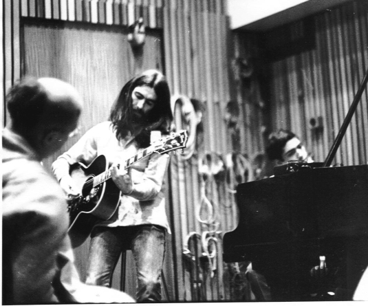George-Harrison-and-Hare-Krishnas-in-Recording-Studio